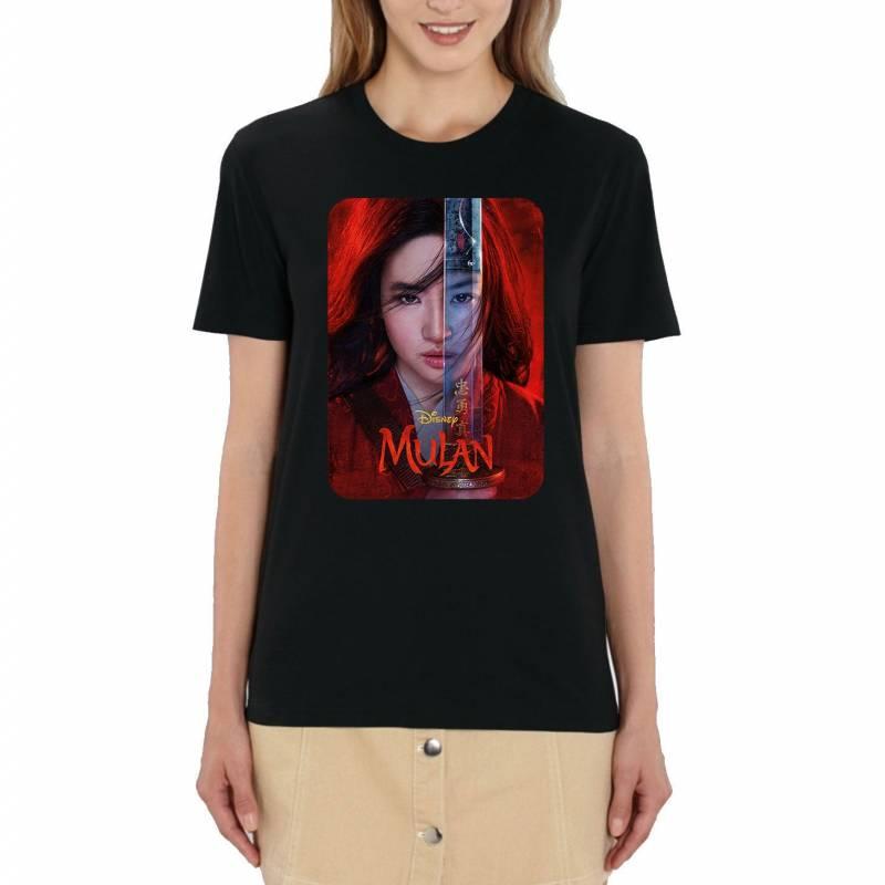 Walt Disney's Mulan Official 2020 Film Poster Ladies Black T-Shirt