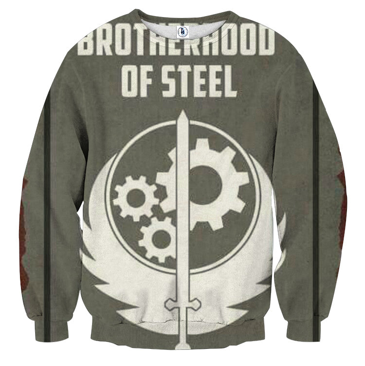 Fallout Brotherhood of Steel Poster Sweater