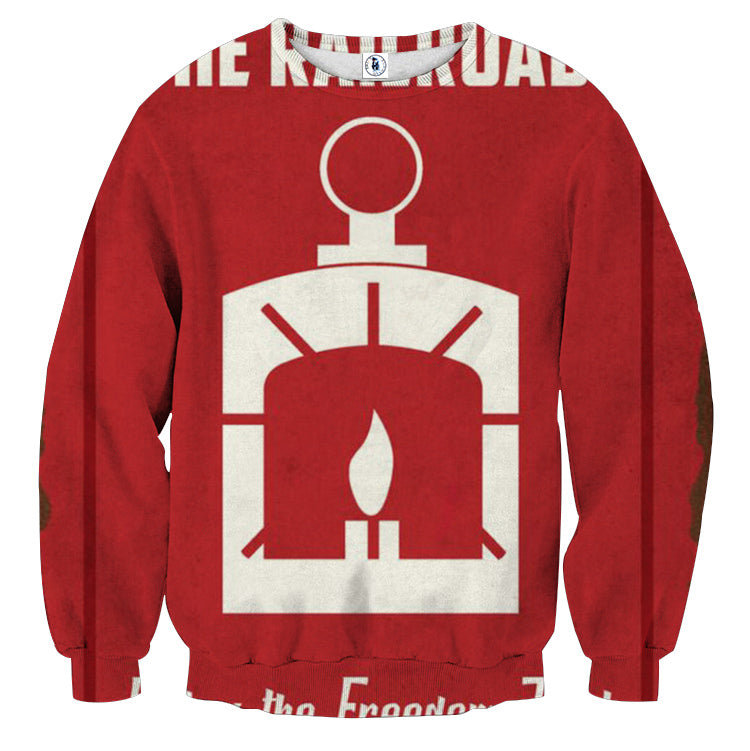 Fallout The Railroad Poster Design Sweater
