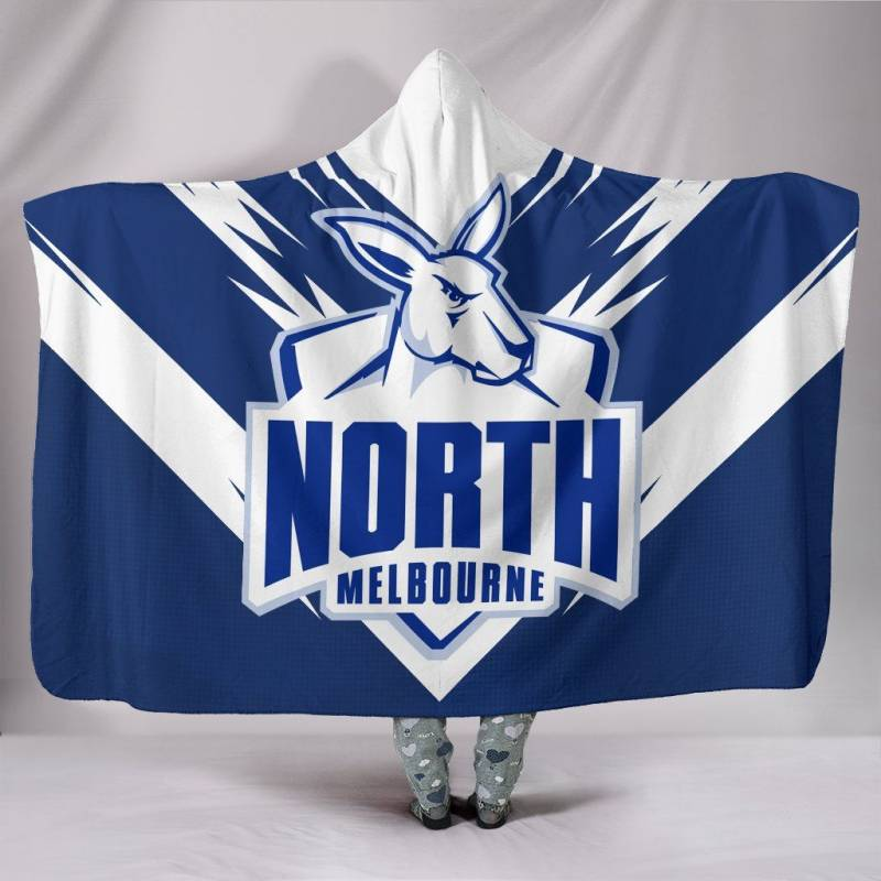 The North Melbourne Football Club Hooded Blanket A25