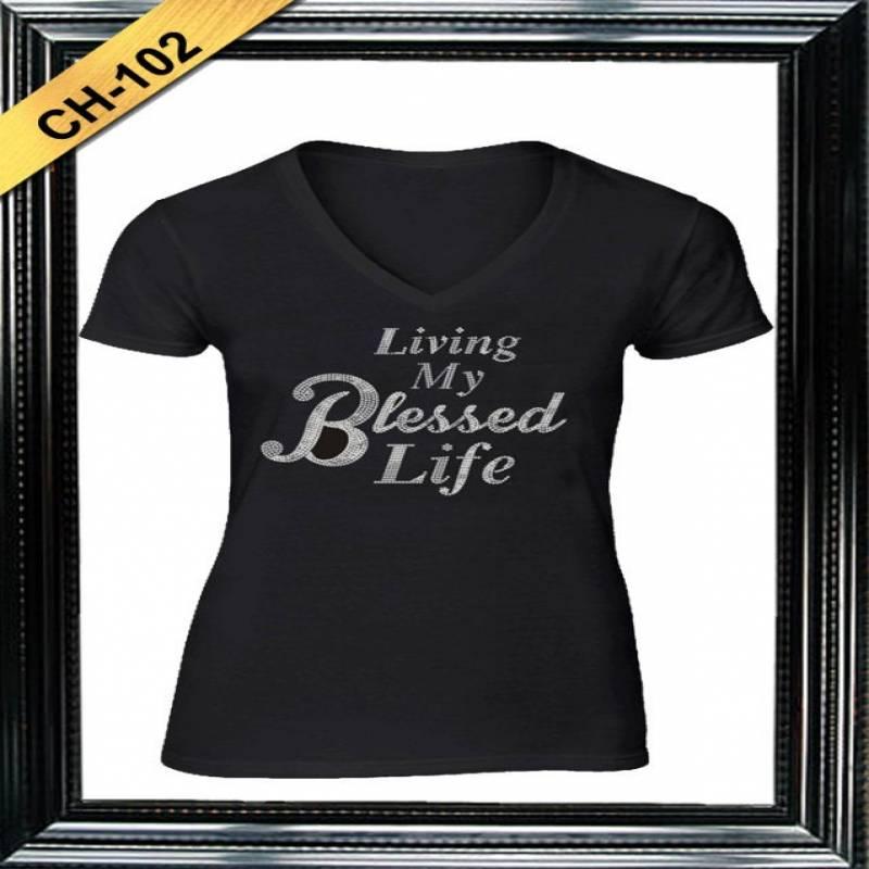 Living My Blessed Life Rhinestone T-Shirt