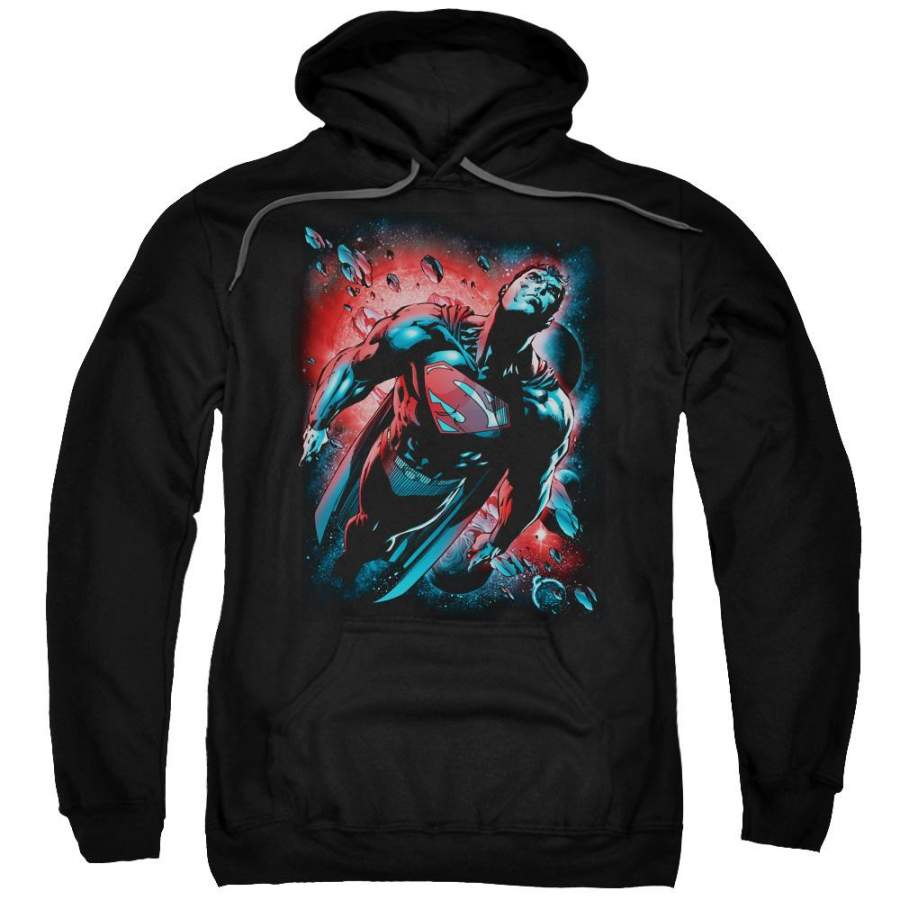 Superman - Red Sun Adult Pull Over Hoodie - Clothesy shop ...