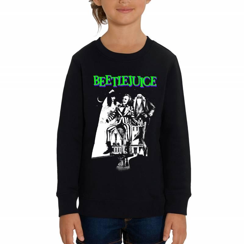 Beetlejuice Mono Poster Children's Unisex Black Sweatshirt