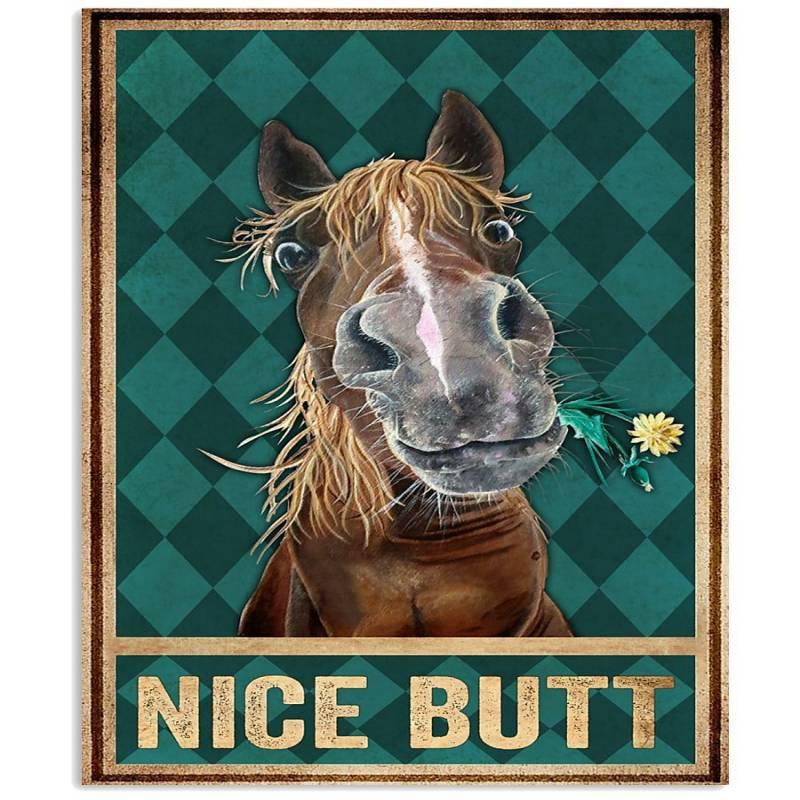 Horse Nice Butt - Unframed Vertical Poster