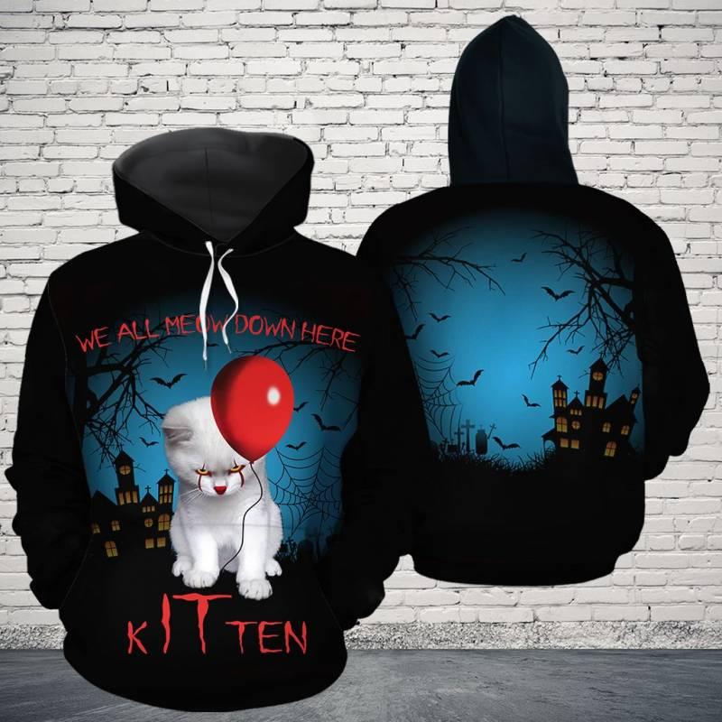 Kitten Halloween H159113 - All Over Print Unisex Hoodie