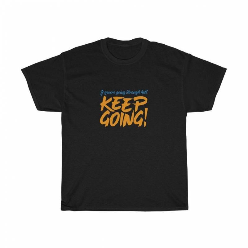 "Unisex ""Keep Going"" Heavy Cotton T-shirt"