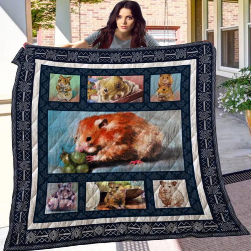 Hamster Quilt Blanket
