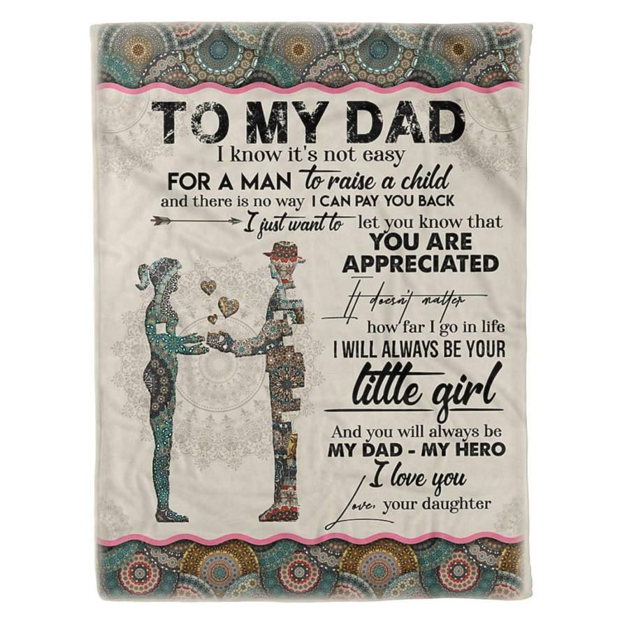 To My Dad - Fleece Blanket