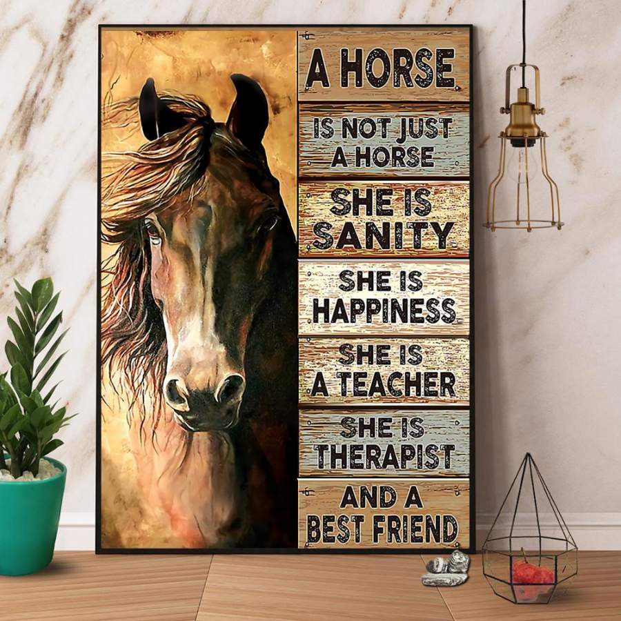 A Horse Is Not Just A Horse She Is Sanity And A Best Friend Paper Poster No Frame/ Wrapped Canvas Wall Decor Full Size