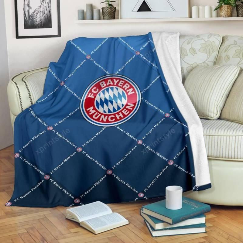 Bayern Munchen LPH Blanket For Kids And Adults Ver1 (Dark Blue)