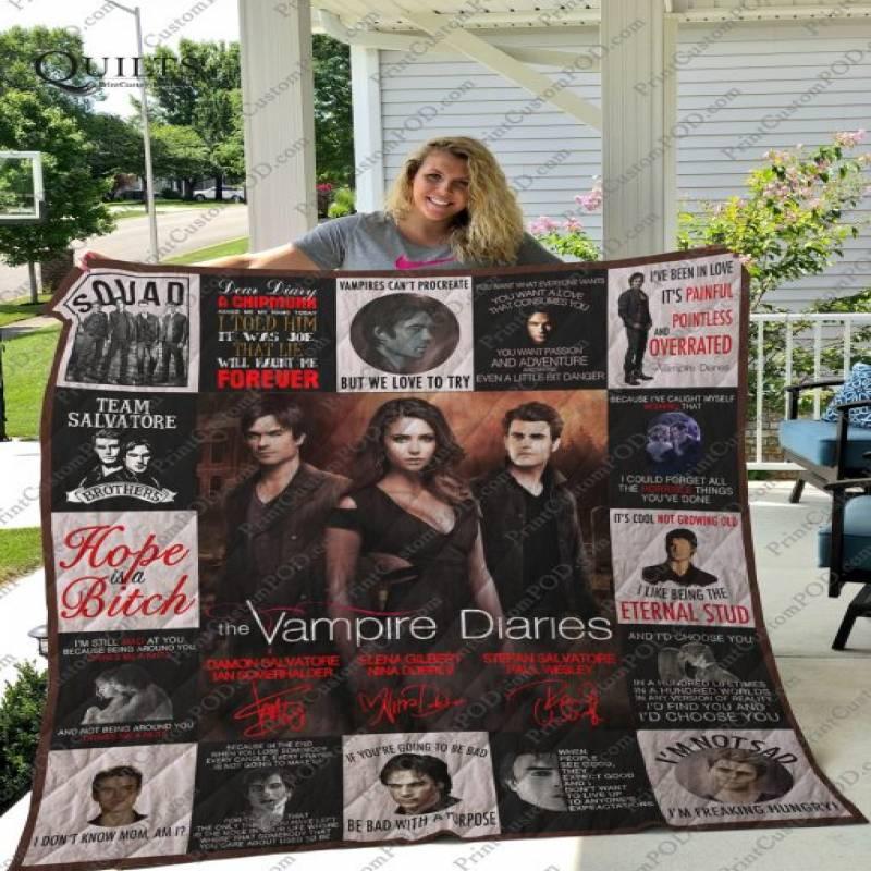 Dd – Vampires Diaries T-shirt Quilt – Ver.0217