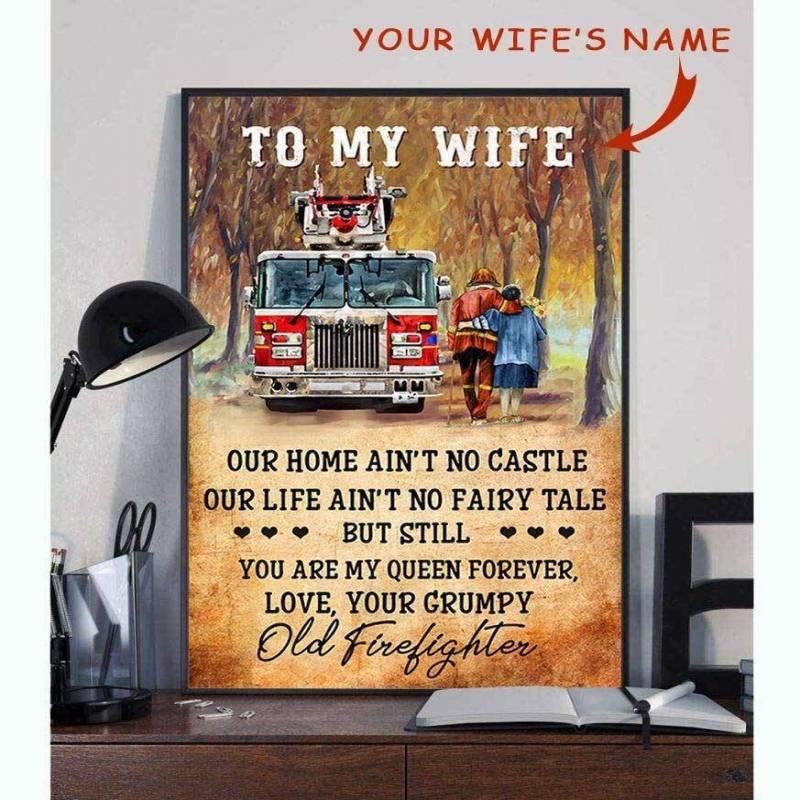 Ligerking™ FireFighter Poster Custom Name HD03888