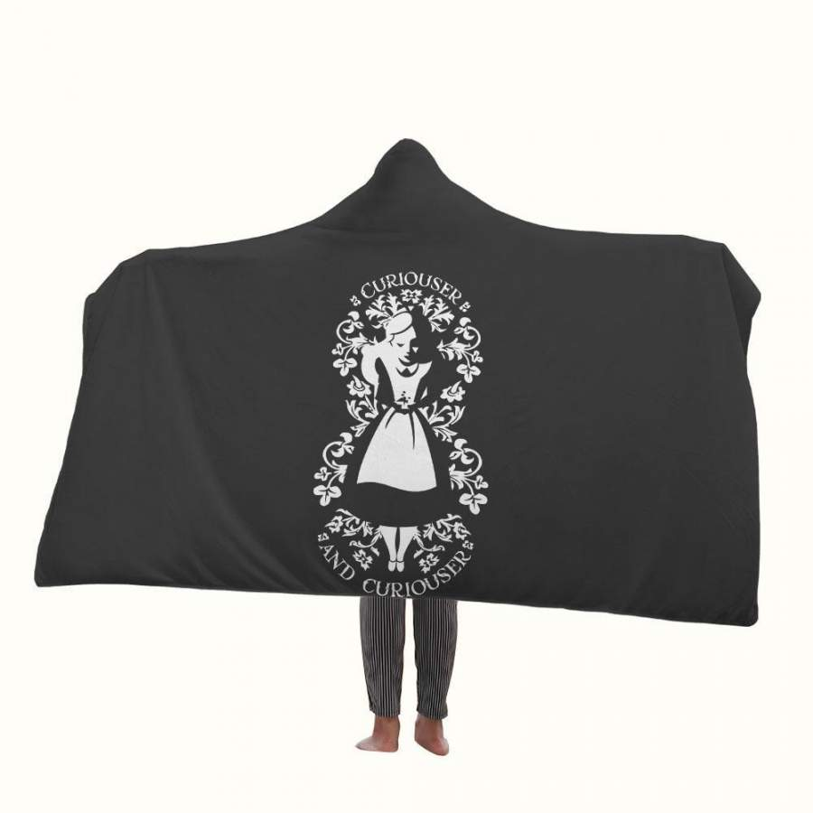 Alice in Wonderland Curiouser and Curiouser 2 Hooded Blanket