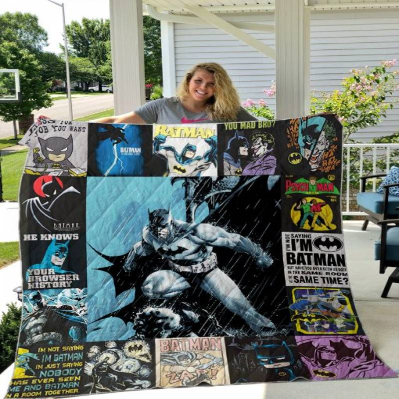 Batman T-shirt Quilt Blanket
