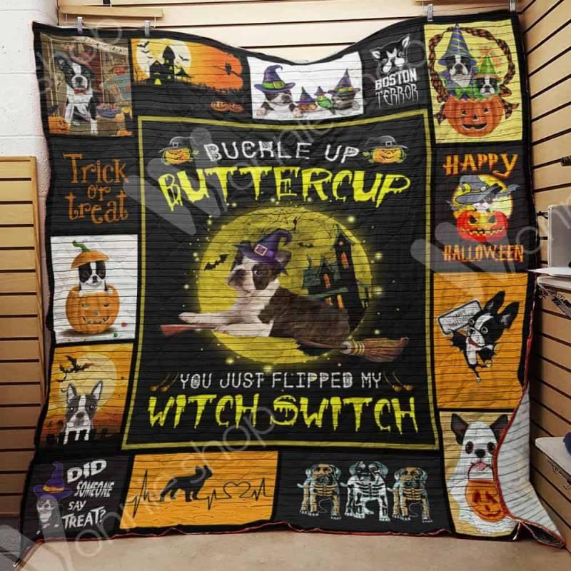 Boston Terrier Witch Blanket AU0903 95O34