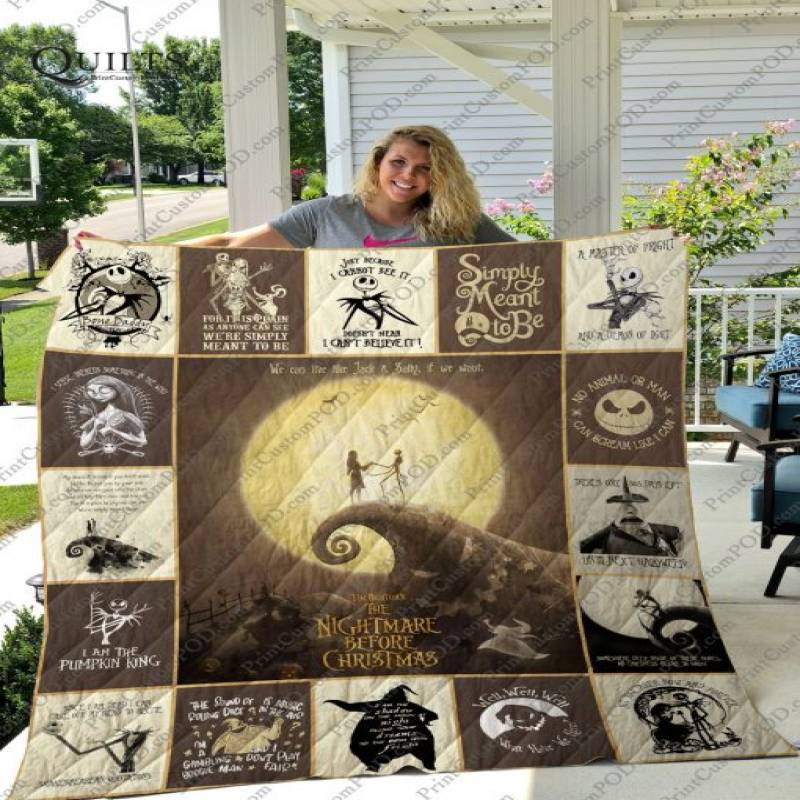 The Nightmare Before Christmas T-shirt Quilt Veryl