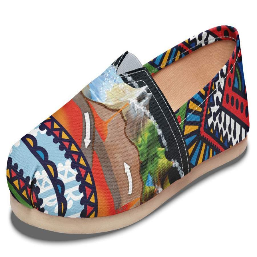 Abstract Tectonic Plates Casual Shoes