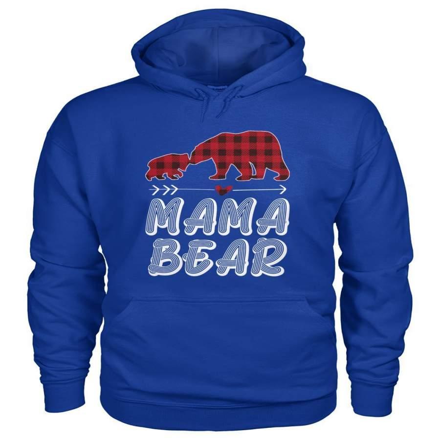 Mama Bear Christmas Pajama Red Plaid Buffalo Family Gift ...