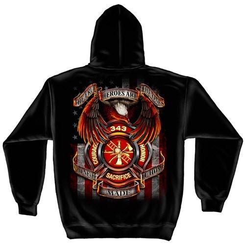 343 Fallen Heroes Mens Hooded Sweatshirt