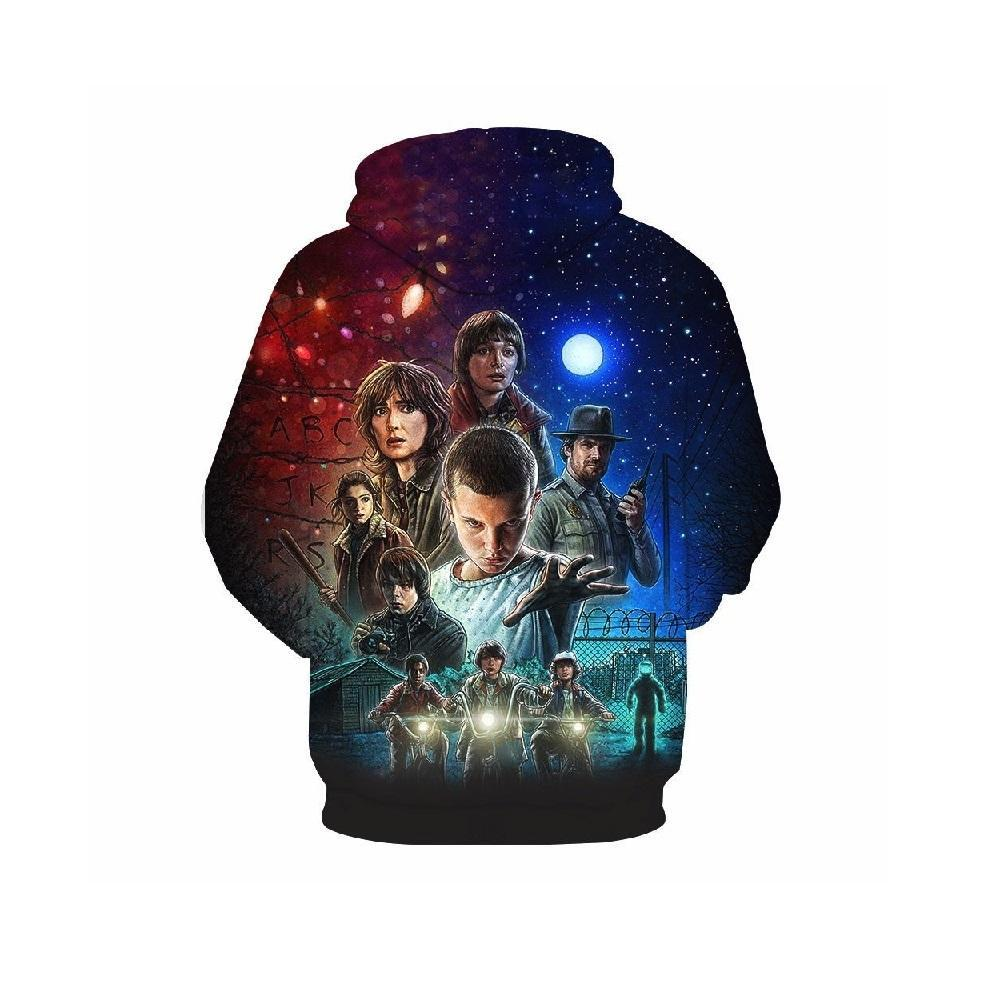 2019 Stranger Things Kids 3D Hoodie Sep Series Pullover Sweatshirt
