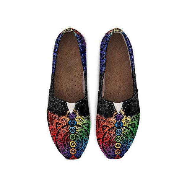 7 Chakra Mandala I Casual Shoes