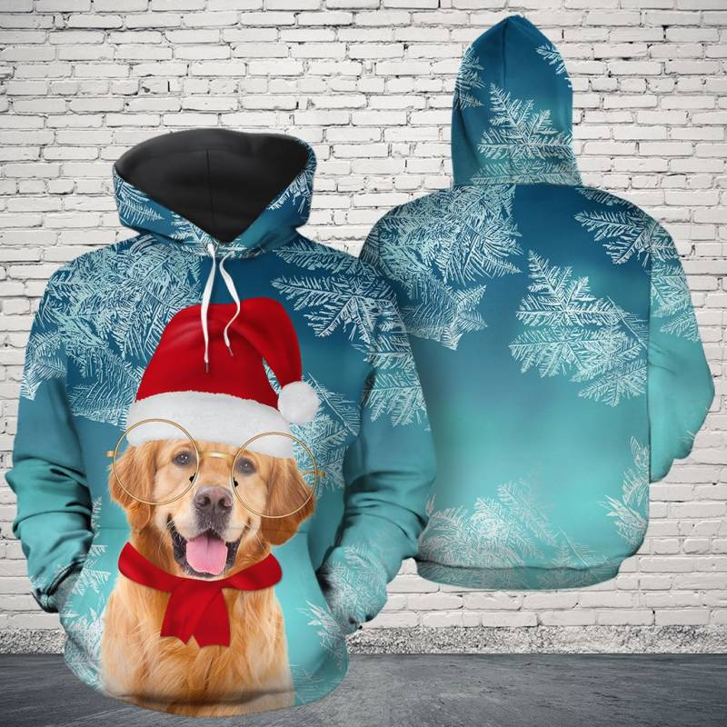 Christmas Golden Retriever H16911 - All Over Print Unisex Hoodie