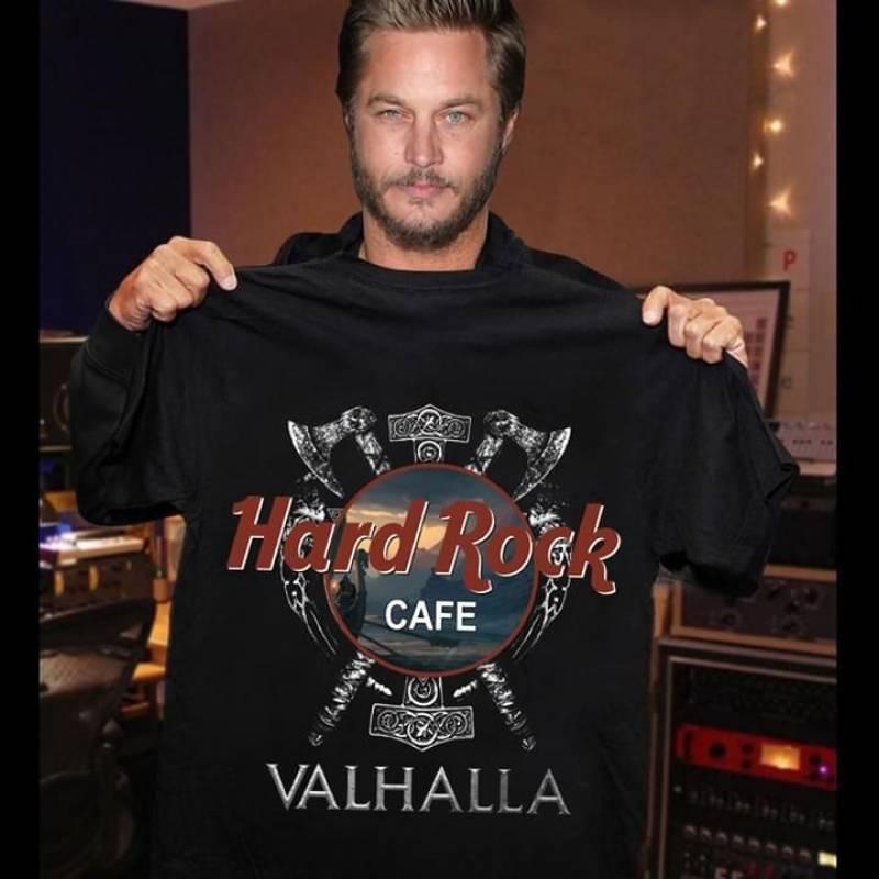 Hard rock cafe valhalla star wars crossover vikings for fan t shirt