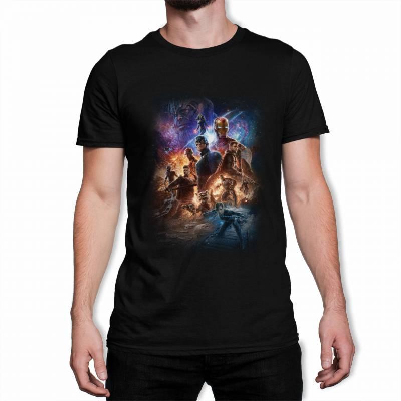 Avengers Endgame Team Poster Men's Black T-Shirt