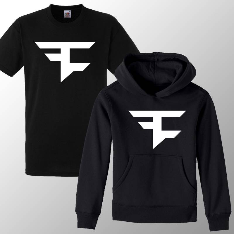 Kids FaZe Clan Hoodie  / T Shirt Youtuber Merch Gaming Jumper Top Warfare Ghosts Boys Girls Birthday Gift Tee Hoodie Jumper
