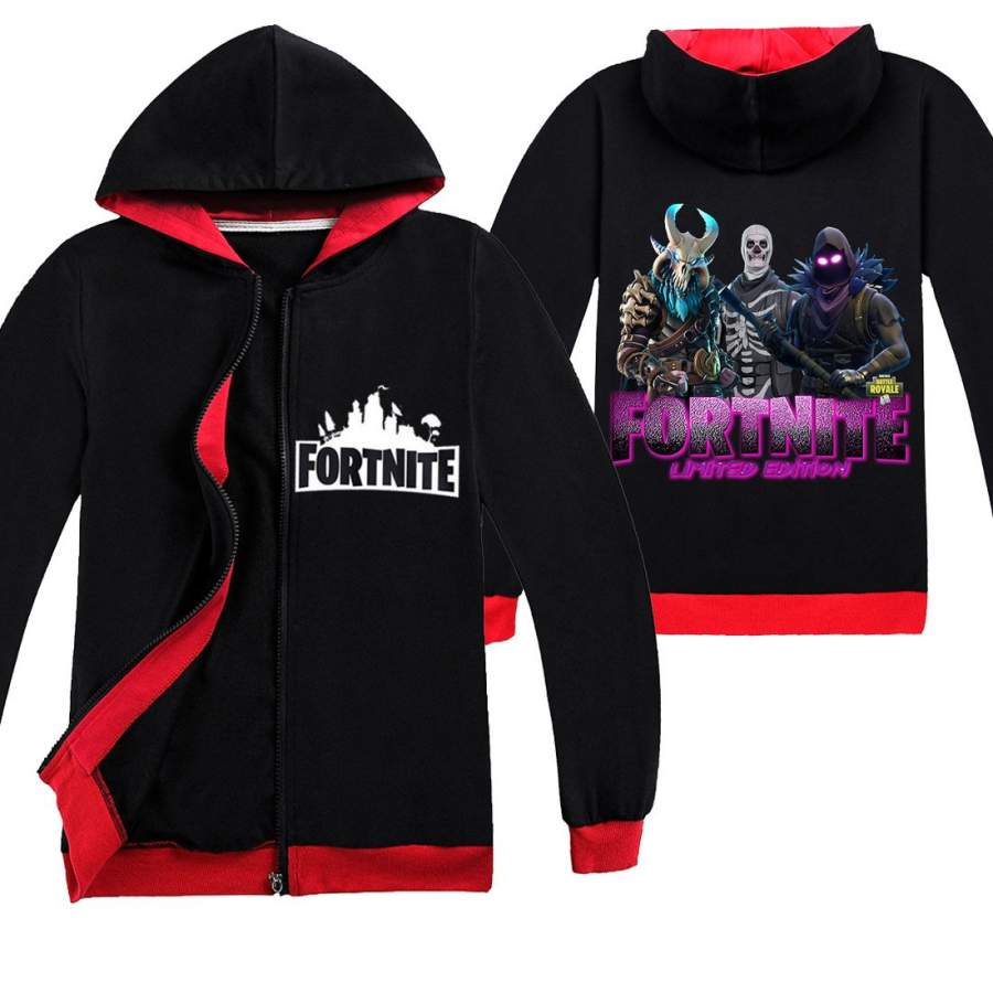 100% Cotton Kids Fortnite Hoodie For Boys and Girls