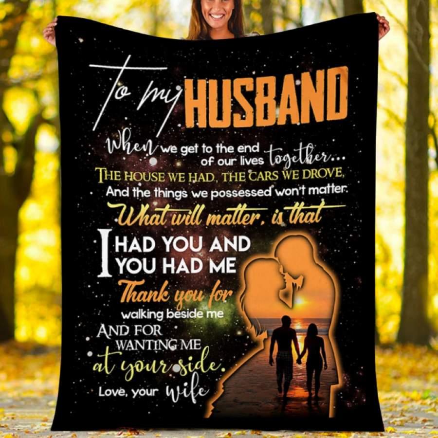 CUSTOMS BLANKET TO MY HUSBAND BLANKET - PERFECT GIFT FOR HUSBAND - FLEECE BLANKET