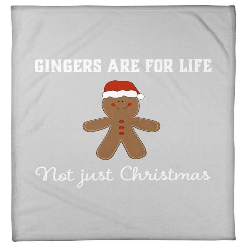 Gingers Are For Life Christmas Gift Grey T-shirt Fleece Blanket