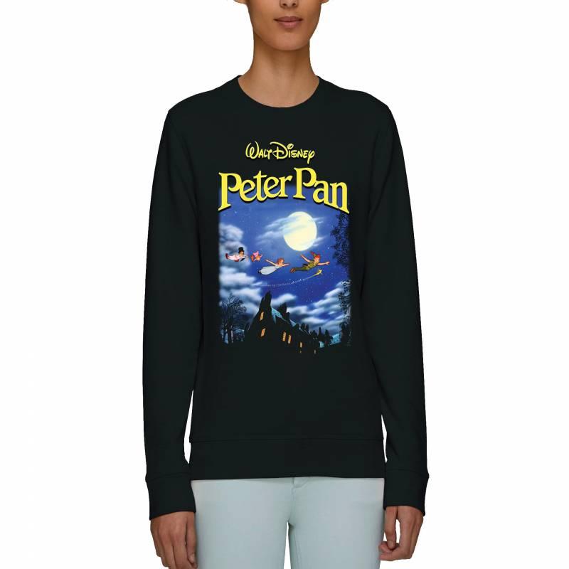 Disney Peter Pan Poster Adults Unisex Black Sweatshirt
