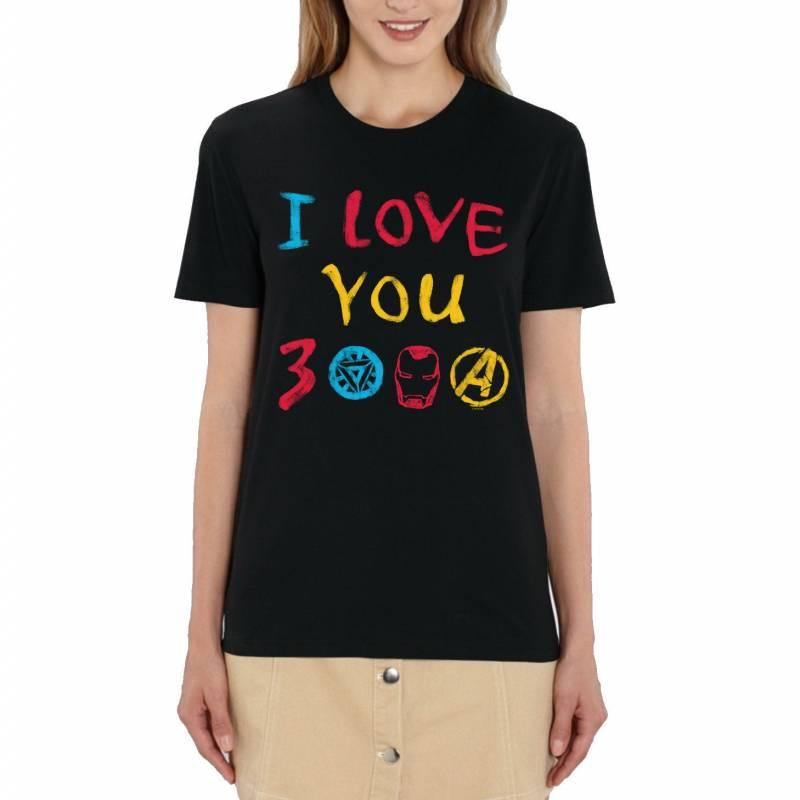 Marvel Avengers I Love You 3000 Ladies T-Shirt
