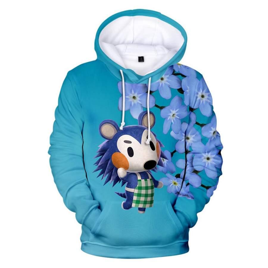 Animal Crossing  a blue hedgehog  Mabel  Hoodie