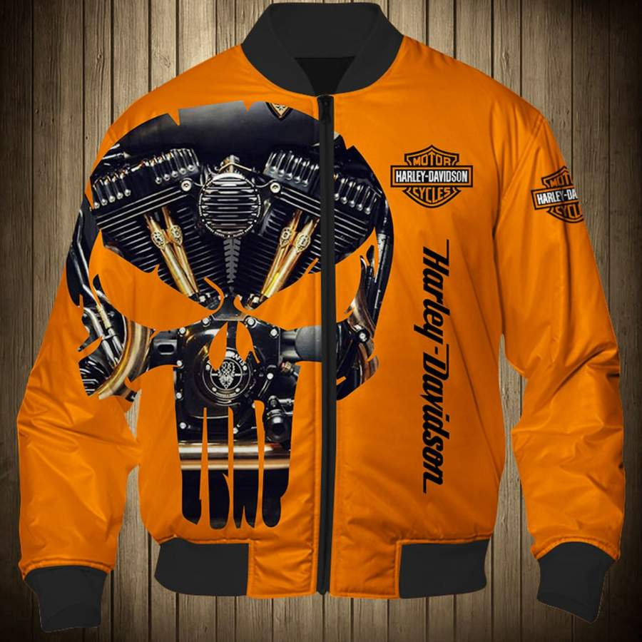 Harley Davidson Motorcycle Punisher Skull Twin Engine 3D ...