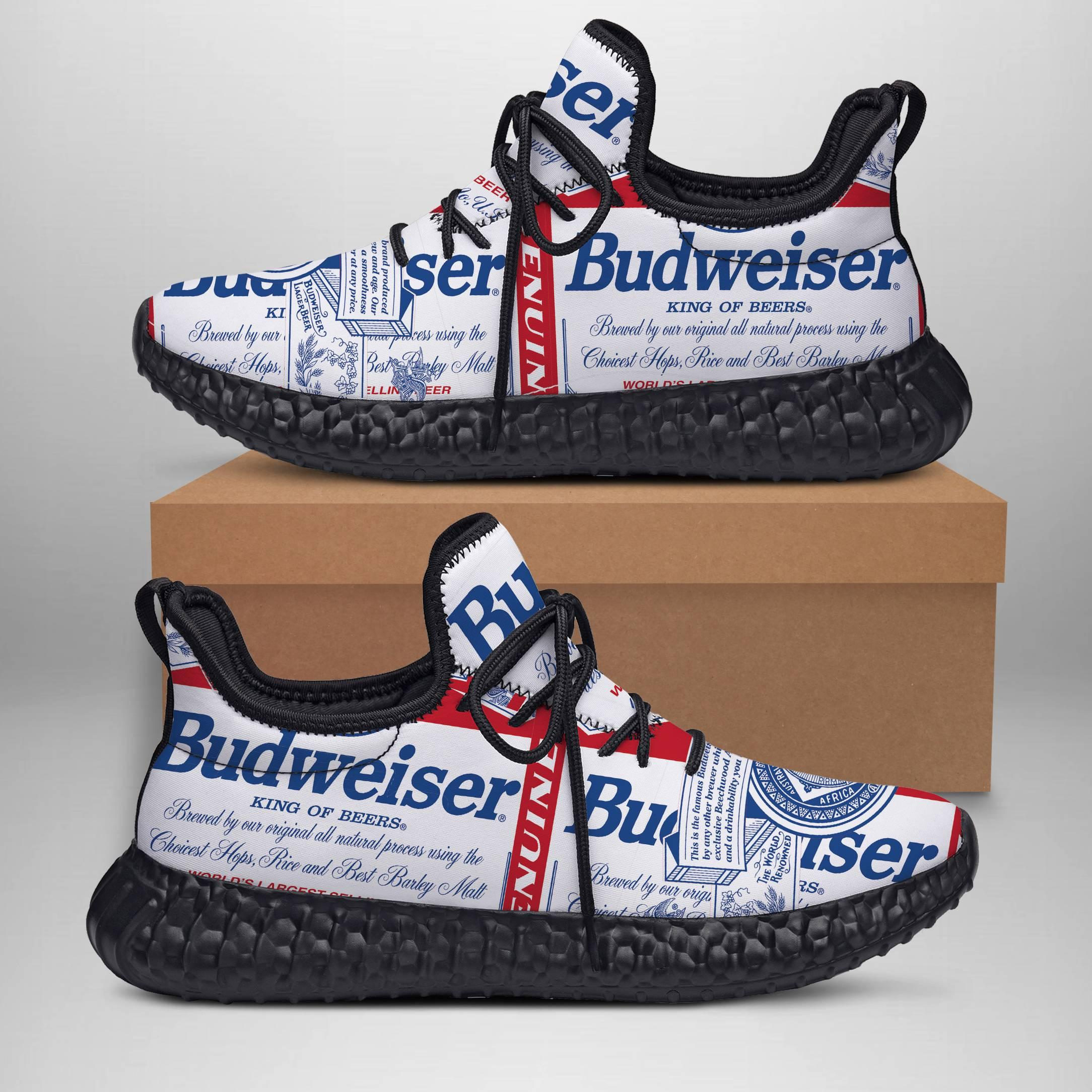 BUDWEISER  Yeezy Sneakers Shoes For Men, Women, Runing Yeezy Sneakers Shoes. Custom Yeezy Sneakers Shoes SNEAKERS
