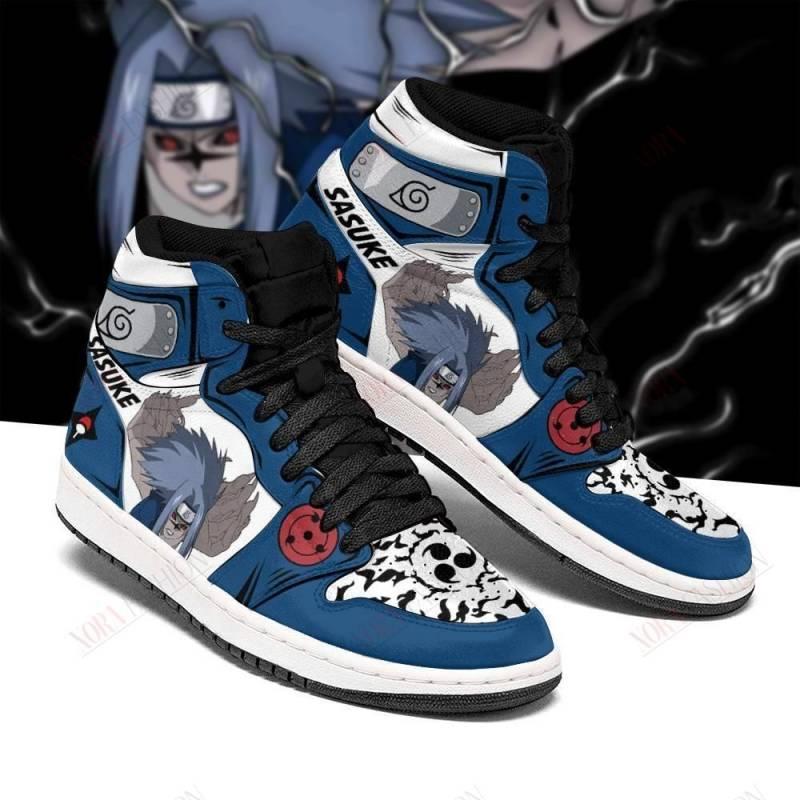 Naruto Sasuke Shoes Cursed Seal of Heaven Power Boots Anime Sneakers