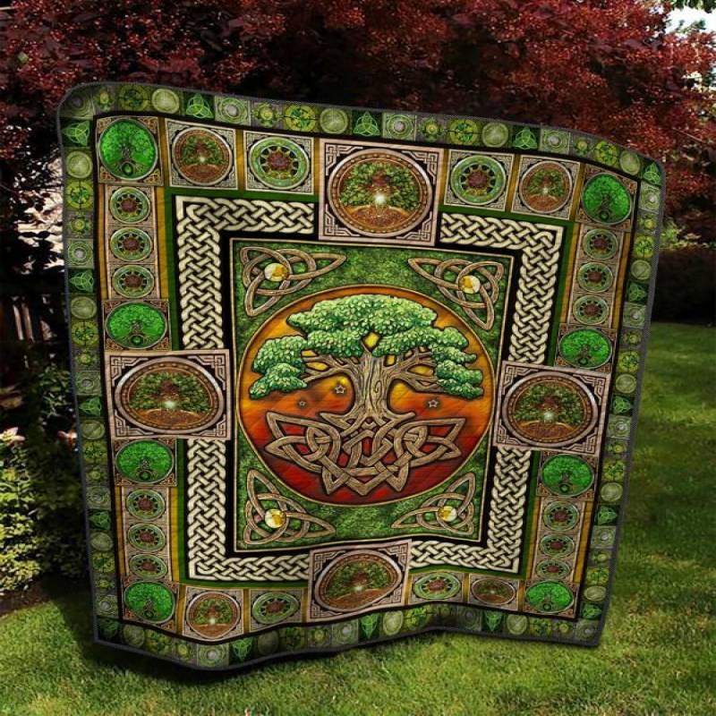 The Celtic Knot Tree Of Life Hm230403 Quilt Blanket