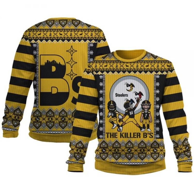 Pittsburgh Steelers Killer Bees The B'S Are Back In Town Ugly Christmas Sweatshirt/Hoodie/Hooded Blanket