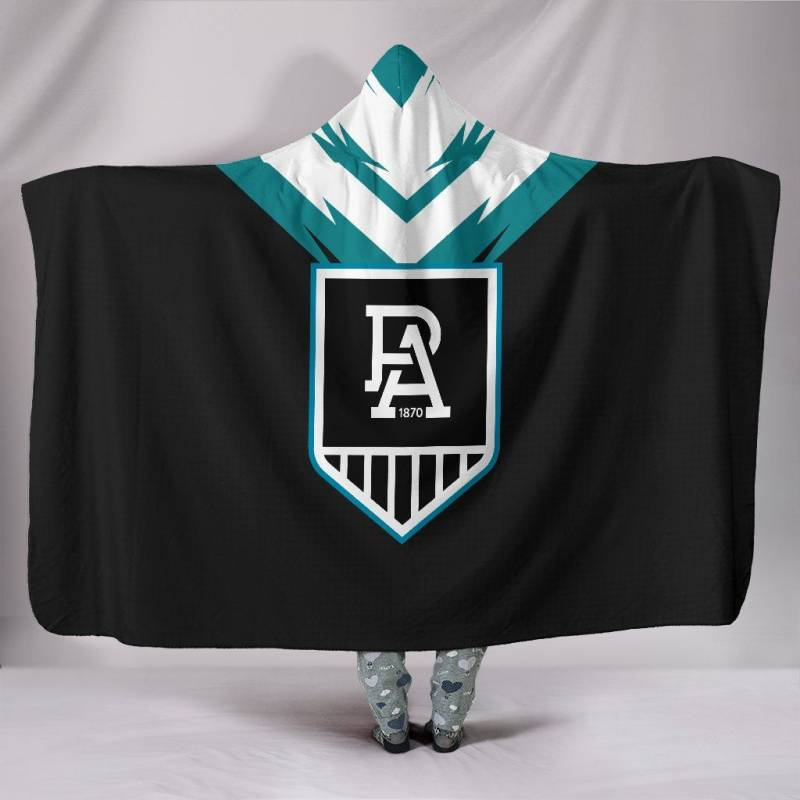 Port Adelaide Football Club Hooded Blanket A15