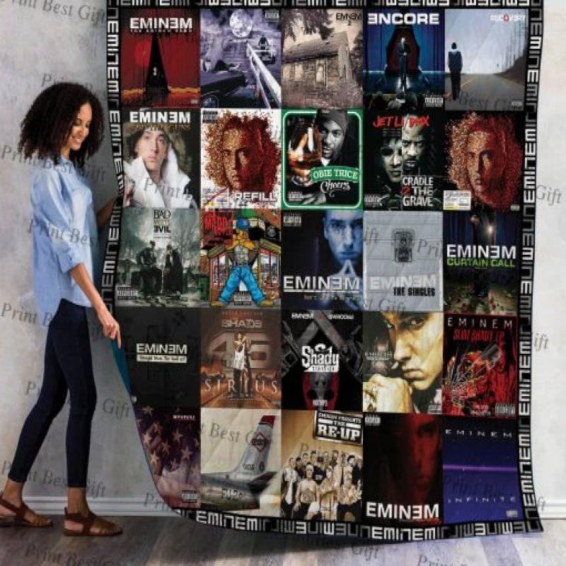 Eminem Albums Cover Poster Quilt Ver 4