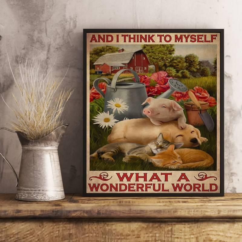 What A Wonderful World - Unframed Vertical Poster