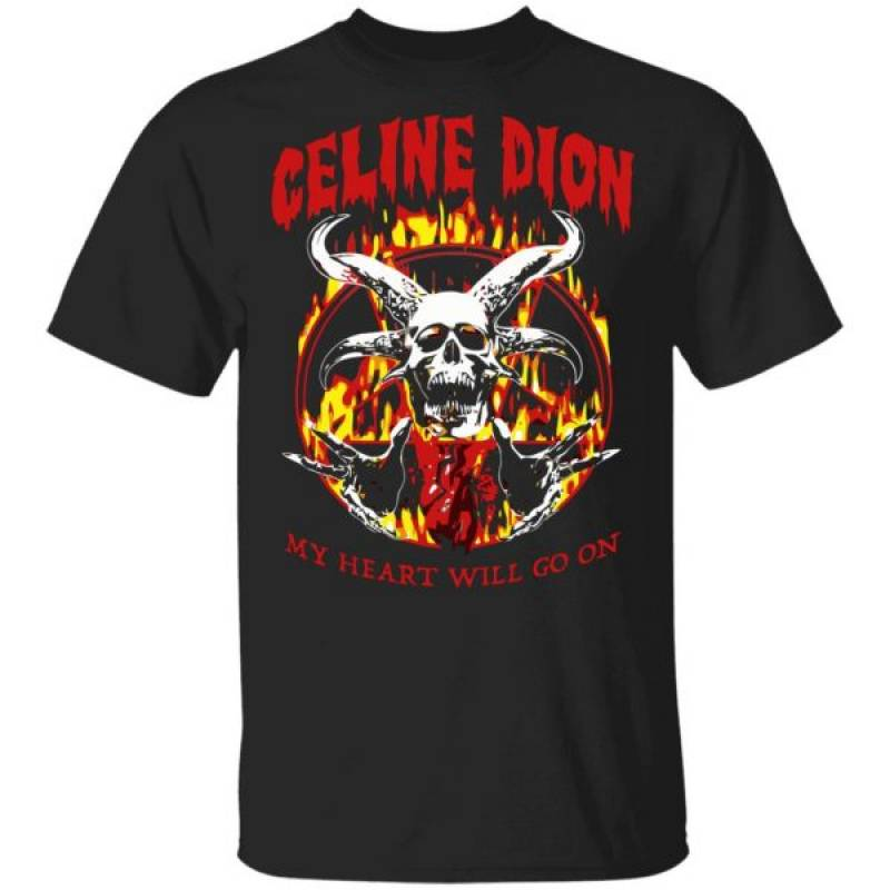 Celine Dion Metal My Heart Will Go On Shirt