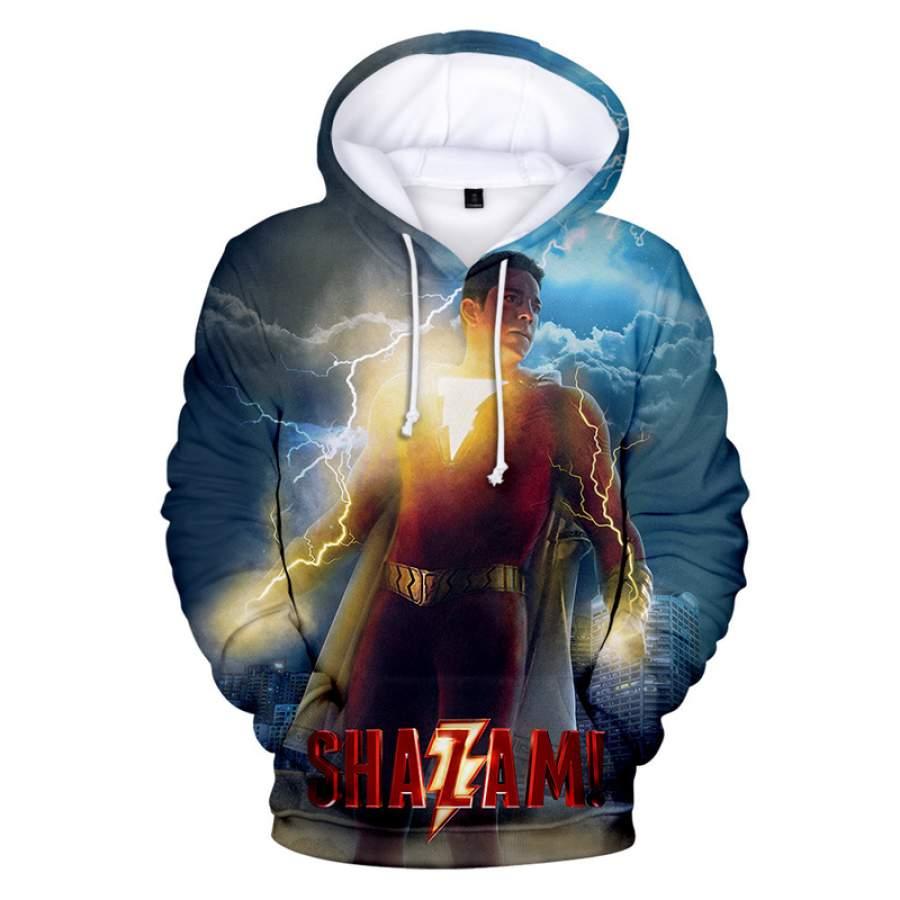2019 American superhero film Shazam  Hoodie For Boys and Girls