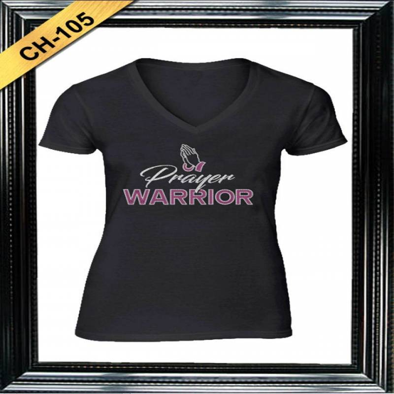 Prayer Warrior Rhinestone T-Shirt