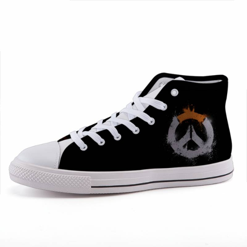 Overwatch Symbol Minimalist Gaming Theme Sneaker Shoes