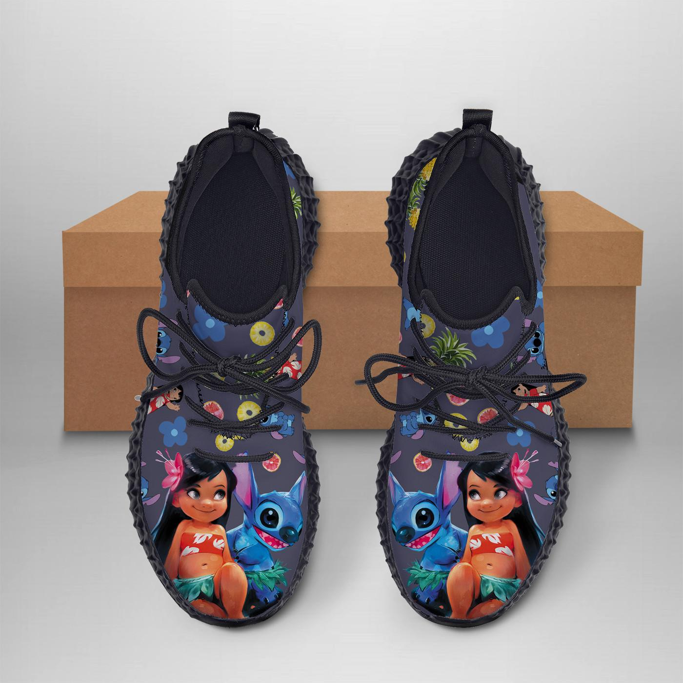 LILO & STITCH  Yeezy Sneakers Shoes For Men, Women, Runing Yeezy Sneakers Shoes. Custom Yeezy Sneakers Shoes SNEAKERS
