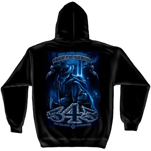 343 Never Forget Mens Hooded Sweatshirt