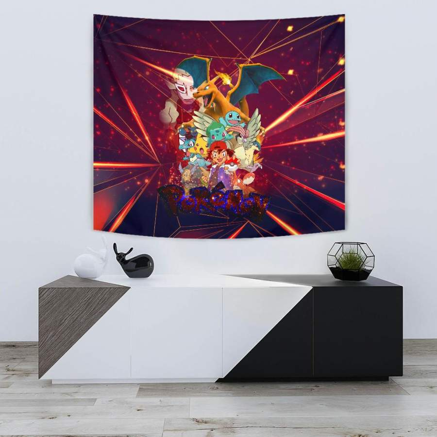Ash Movie Poster Pokemon Wall Tapestry